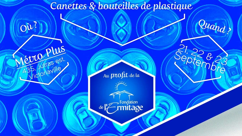 Collecte de canettes, en collaboration avec Métro Plus Pierre James