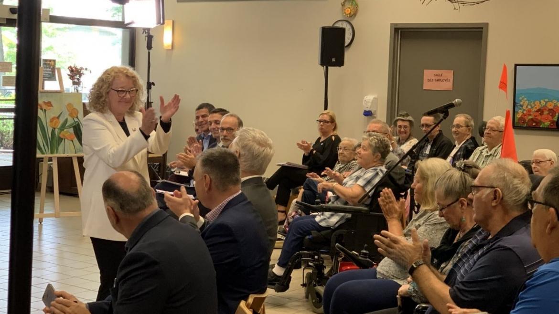 Reportage de Radio-Canada Estrie – Inauguration du projet espaces de vie et salles d'eau du Roseau