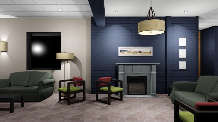 40 000 $ Salon des familles et hall d'entrée au Chêne